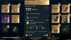 persian elite armor set ac odyssey dlc head armor