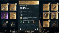 pride of the lion legendary sword ac odyssey dlc