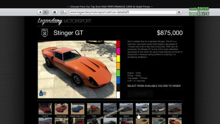 gtav vehicle Grotti Stinger GT middle size