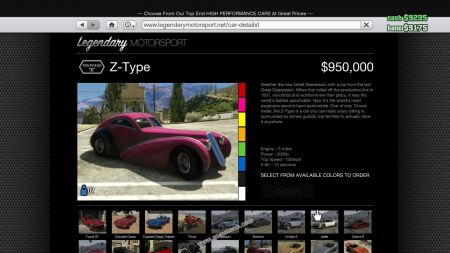 gtav vehicle Truffade Z-Type middle size