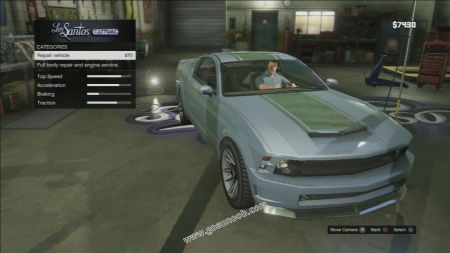 gtav vehicle Vapid Dominator middle size