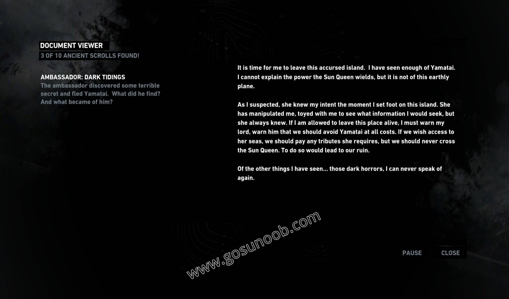 Ancient Scrolls - Ambassador: Dark Tidings - GosuNoob.com Video Game ...