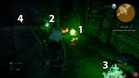 witcher 3 magic lamp