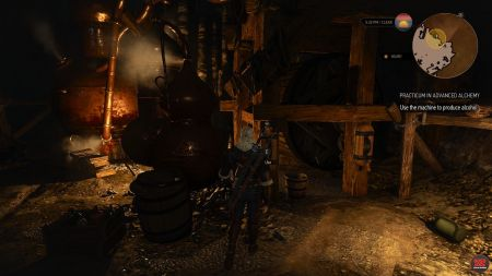 witcher 3 use the machine to produce