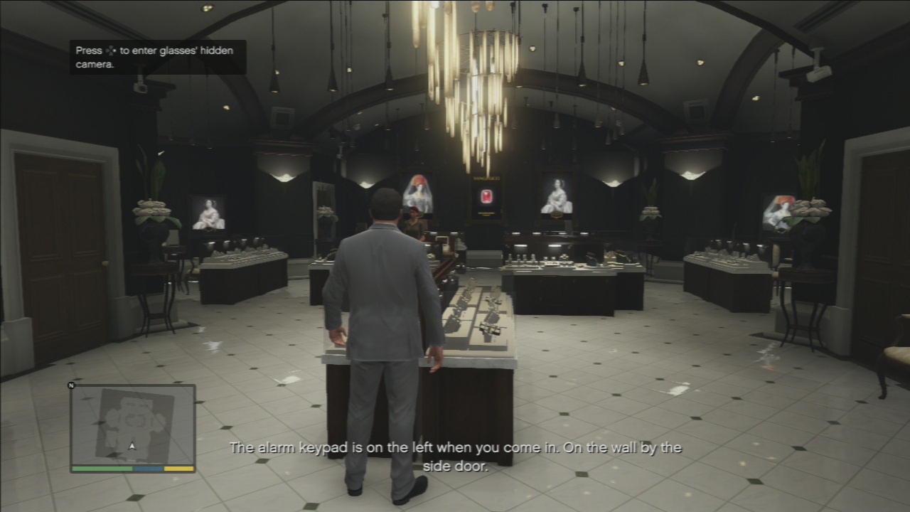 gta 5 mission 11 casing the jewel store guide video game news guides. Black Bedroom Furniture Sets. Home Design Ideas