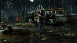The Walking Dead Season Two All That Remains throwing disc location