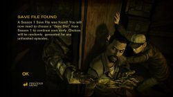 The Walking Dead Season Two All That Remains saved game