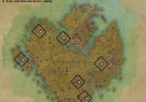 ESO Khenarthi's Roost Skyshards Map
