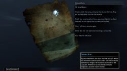 Shadow of Mordor Artifact Tattered Note