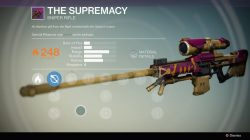 Supremacy Sniper rifle