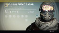 destiny Knucklehead Radar