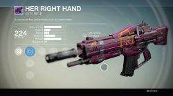 Her Right Hand Auto rifle