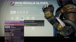 Warlock Iron Regalia Gloves