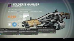 Destiny jolder's hammer