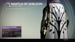 Hunter Mantle of Gheleon
