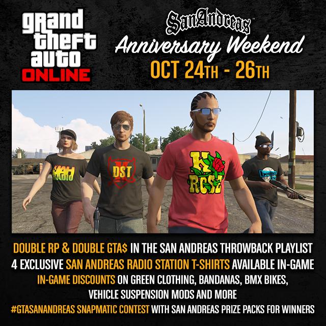 San Andreas Anniversary Weekend Image