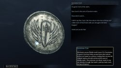 Shadow of Mordor Artifact Fern Outskirts Gondorian Coin