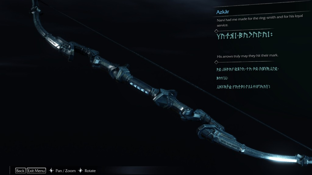 Shadow of Mordor Bow Legend