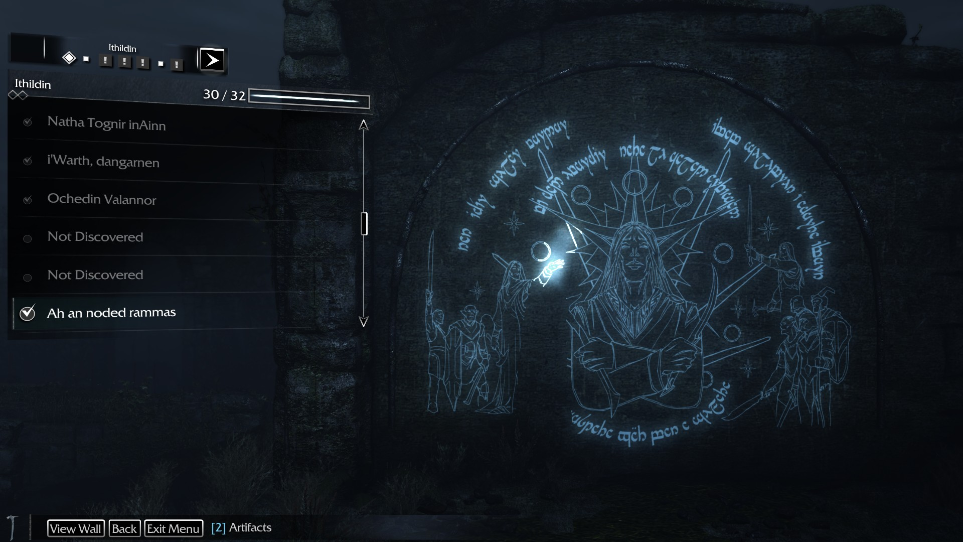 Shadow of Mordor Ithildin Locations Guide - Sea of Nurnen map