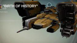 Ship Birth of History