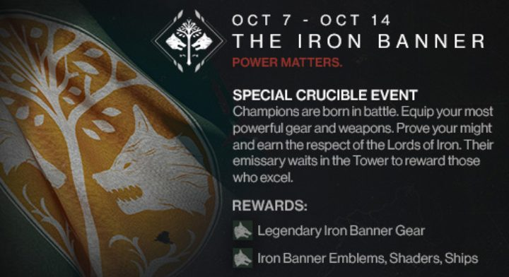 destiny iron banner event