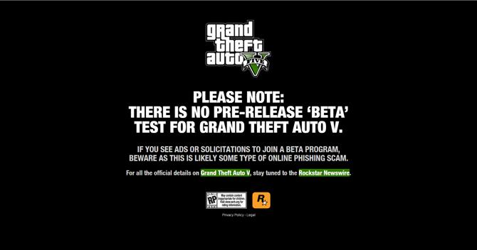 GTA V Beta Scam Image