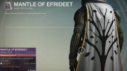 hunter mantle of efrideet