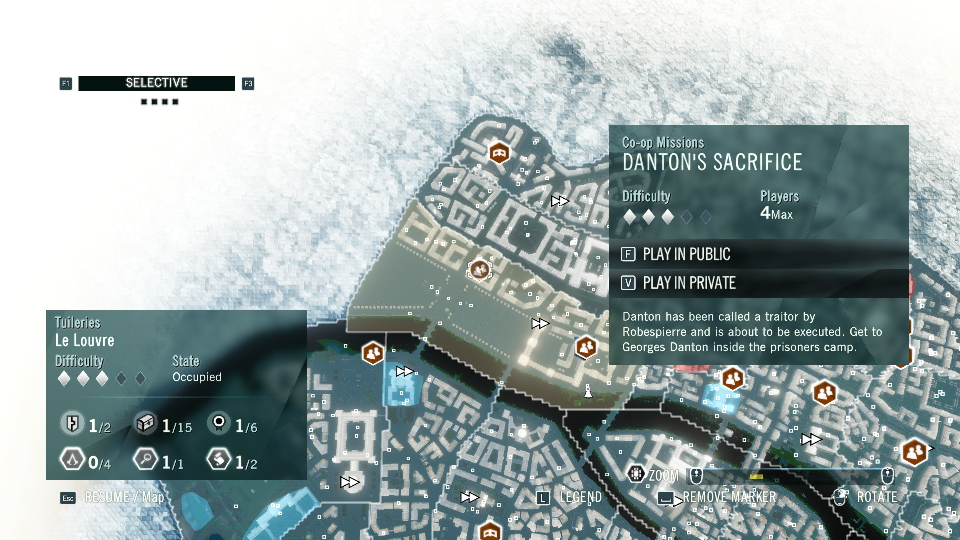 Ac Unity Sync Point Locations Danton S Sacrifice Co Op