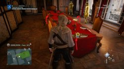 AC Unity Murder Mystery Hot Chocolate to Die for Dining Room