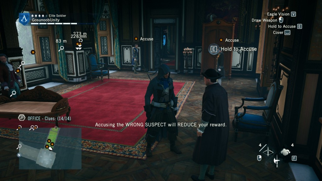 AC Unity The Red Ghost of the Tuileries Counselors Find The Murderer