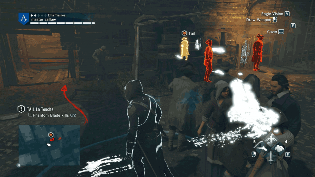 Assassins-Creed-Unity-Sequence-4-Memory-1-The-Kingdom-Of-Beggars-Tailing-La-Touche Image