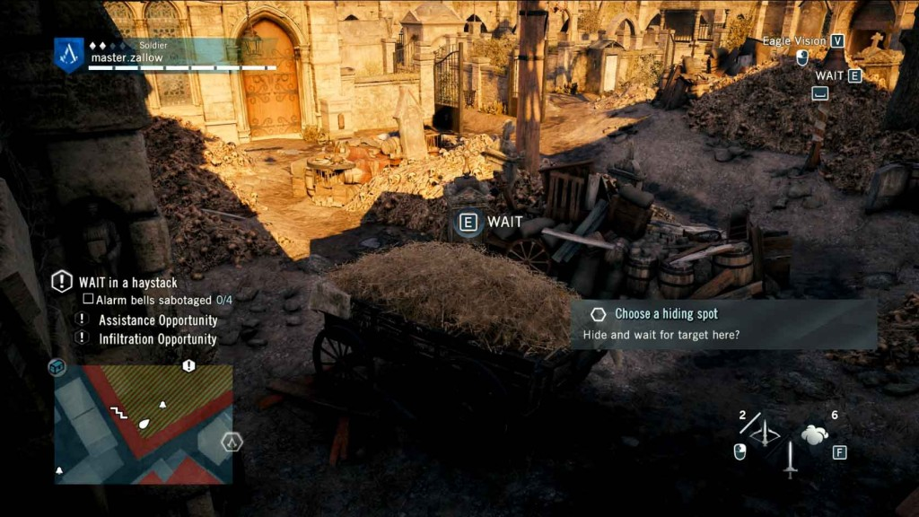 Assassins-Creed-Unity-Sequence-5-Memory-3-The-Prophet-Hide-in-Hay-bale Image