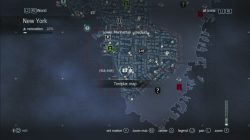 Assassin's Creed Rogue Templar Map Lower Manhattan