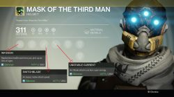 Destiny mask of the third man exotic helmet hunter stats