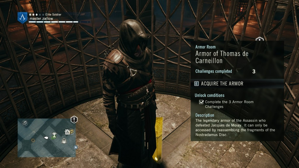 Thomas de Carneillon Master Assassin Outfit