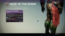 Destiny Mark of the Spawn