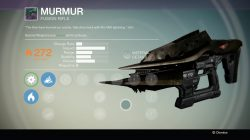 Destiny Murmur Fusion Weapon