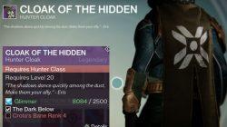 cloak of the hidden