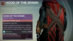 destiny hood of the spawn