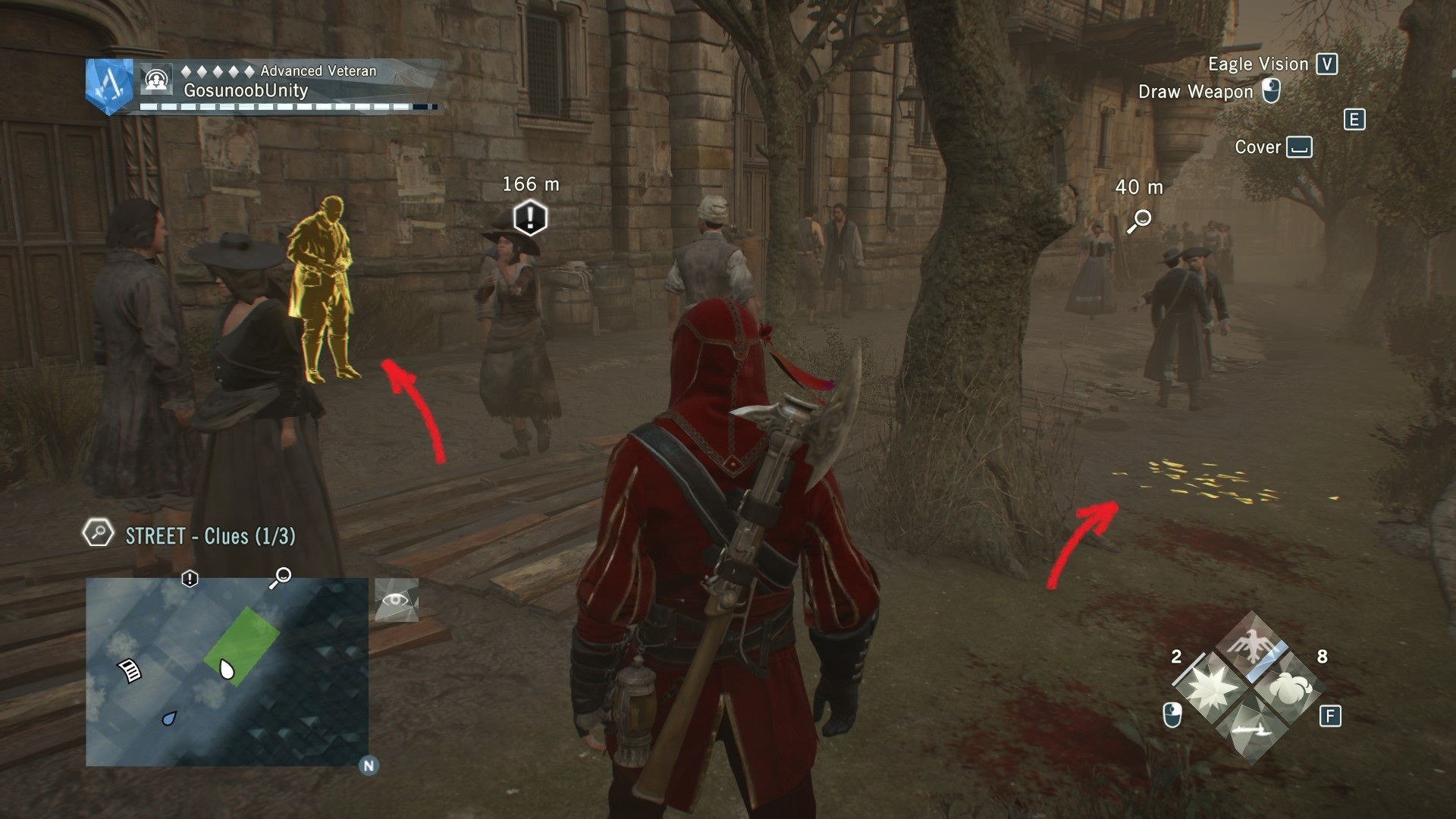 AC Unity Dead Kings Blind Justice Street Clues