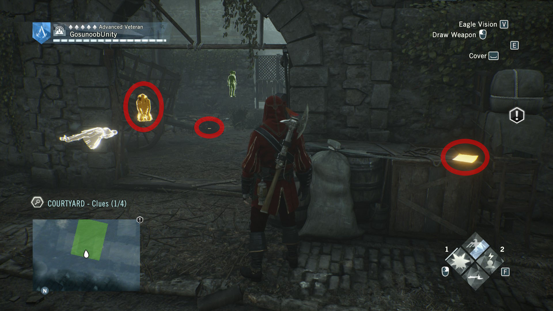 AC Unity Dead Kings Equal Justice Courtyard Clues