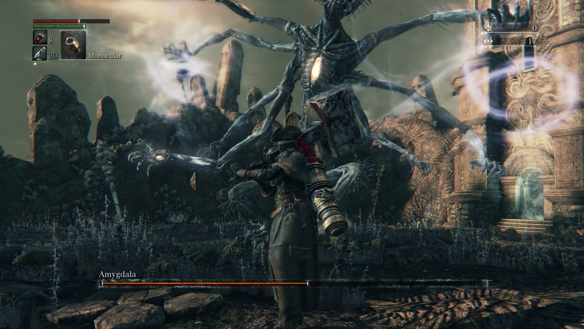 bloodborne amygdala boss how to find and kill it