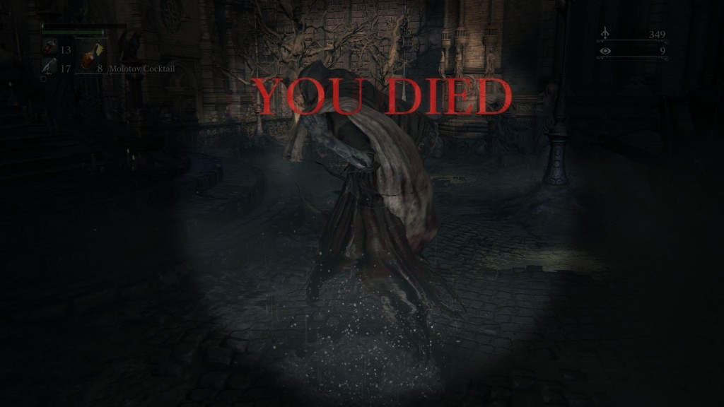 blood echoes farming you died