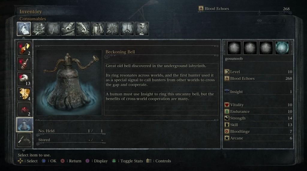 bloodborne beckoning bell