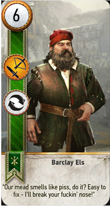 Barclay Els card