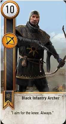 Black Infantry Archer card