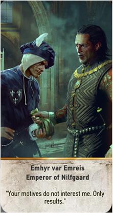Emhyr var Emreis Emperor of Nilfgaard card