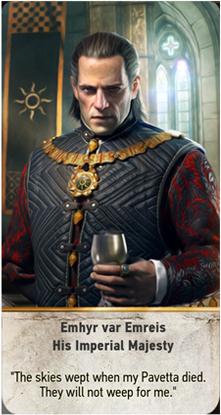 Emhyr var Emreis His Imperial Majesty card