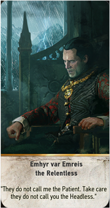 Emhyr var Emreis the Relentless card