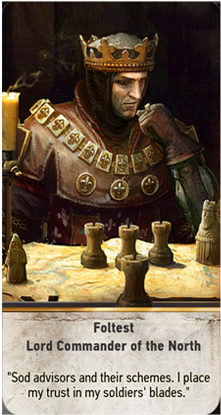 Foltest Lord Commander of the North card